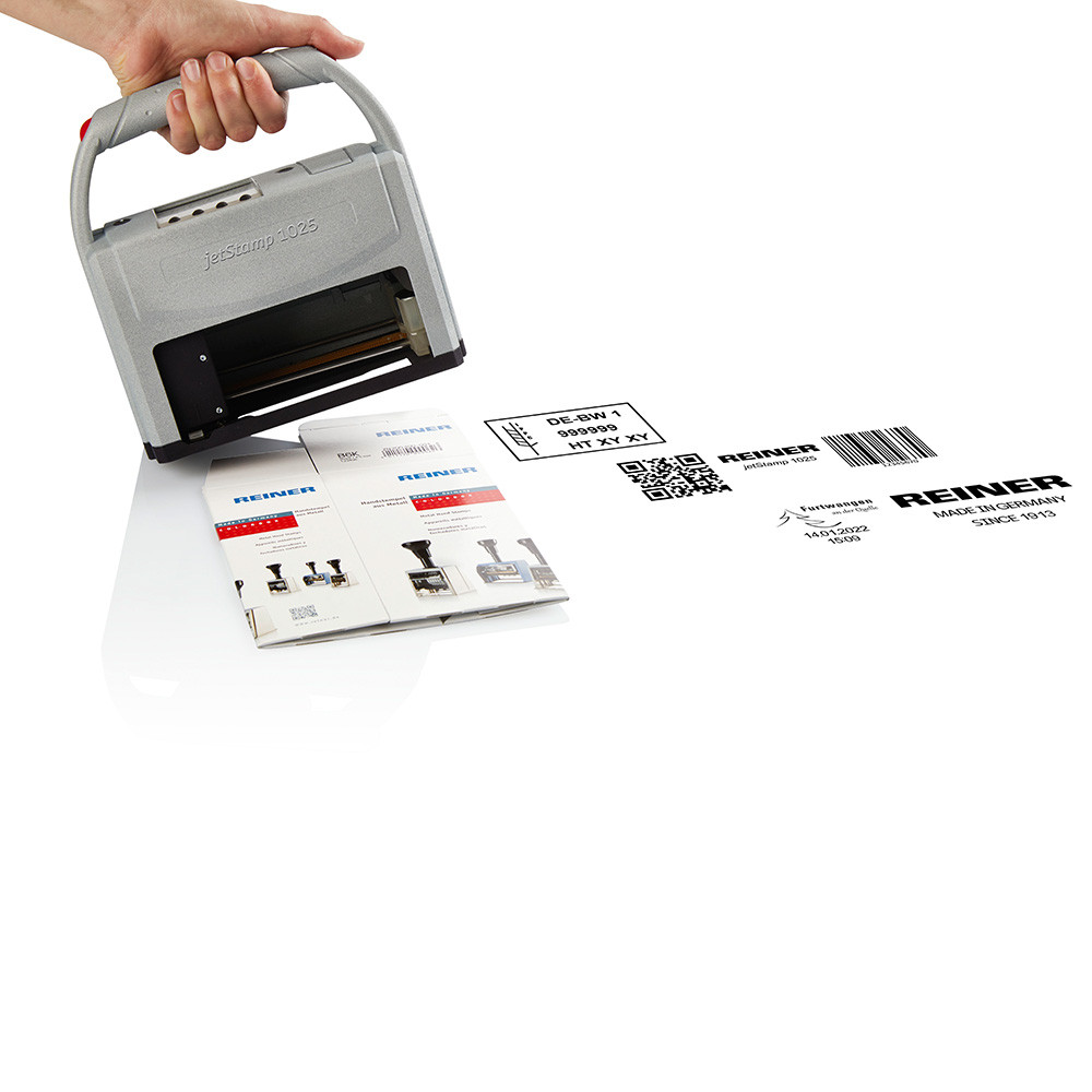 Reiner 1025 Druck auf Karton - Barcode QR-Code Grafik Logo